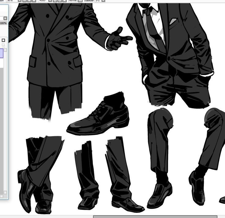 This is a graphic of Remarkable Suit Drawing Reference