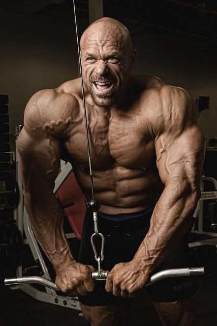 Hugo Girard.  Strongman, now bodybuilding