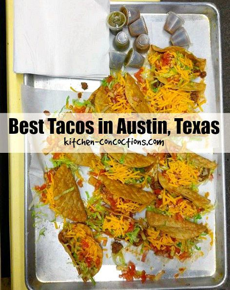 Austin's Best Tacos -  An ever growing list of the best tacos in the ATX. Perfect for locals or out of town guests traveling to Austin, Texas for everything from SXSW to ACL, to a family friendly spring break or summer vacation!