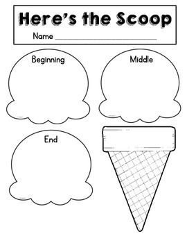 Free! Here's the Scoop....use for retelling stories or phoneme segmentation