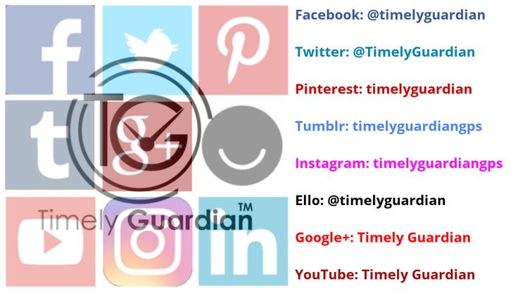 Check out Timely Guardian's Official Pages  #Facebook #Twitter #Pinterest #Tumblr #Instagram #Ello #GooglePlus #YouTube