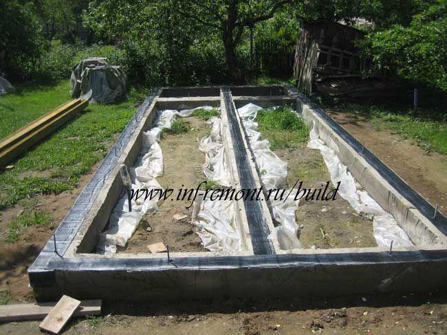 Строительство сарая-бытовки: расширение фундамента 2 - Загородное строительство - статьи