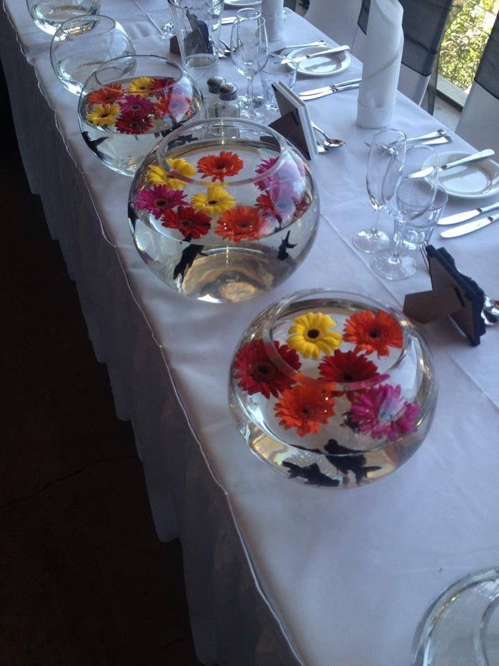 Fishbowl floating flowers at Yarra Ranges Estate. Winery Wedding | Yarra Valley Wedding | Dandenong Ranges Wedding