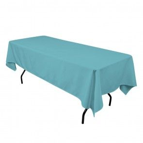 60 x 102 in. Rectangular Polyester Tablecloth Turquoise http://www.linentablecloth.com/tablecloths/rectangle-tablecloths.html?color=Turquoise
