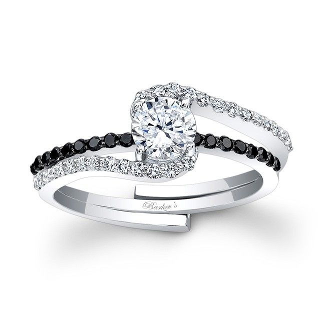 Barkev S Black Diamond Engagement Set 7907sbk
