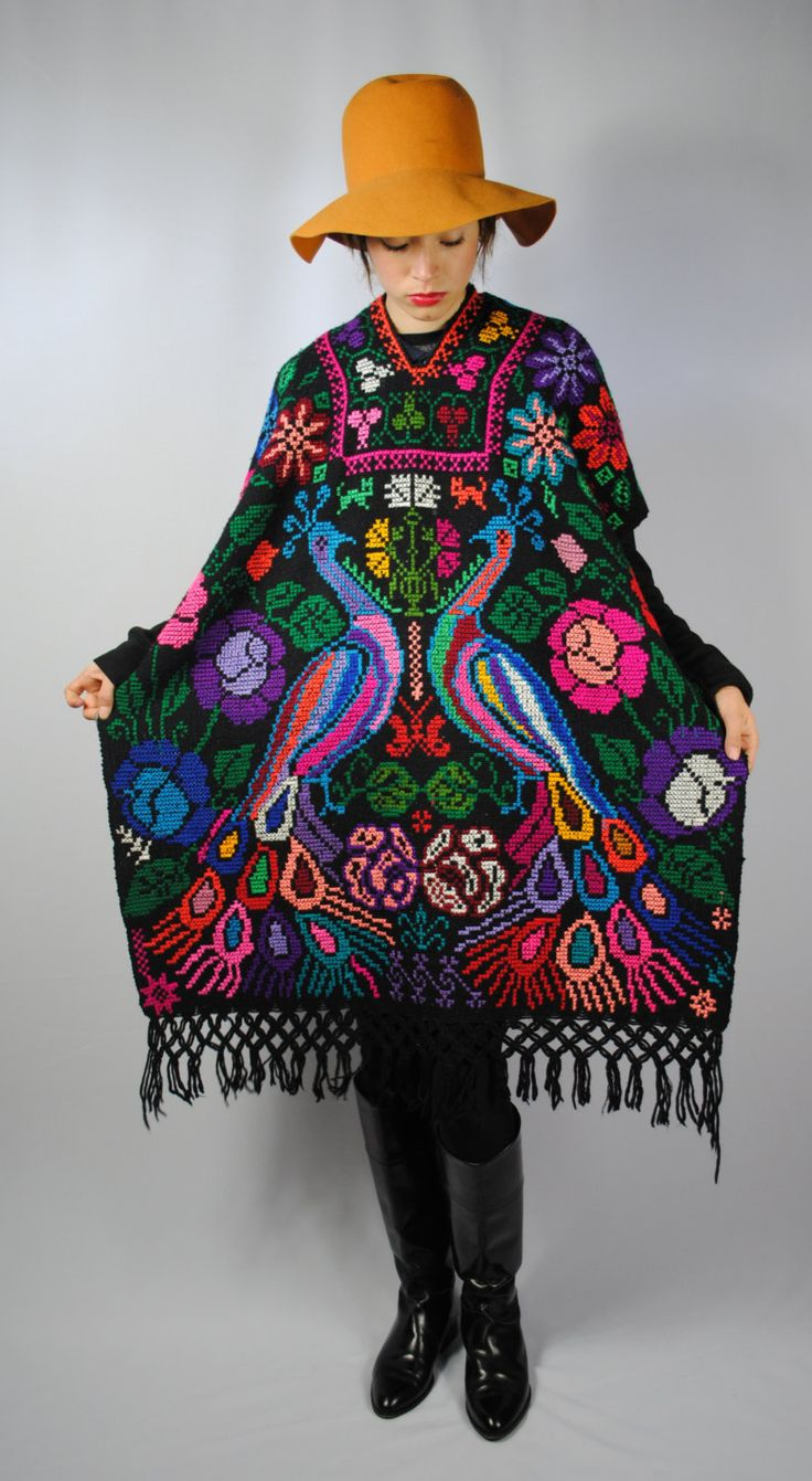Ethnic HAND Knitted PONCHO