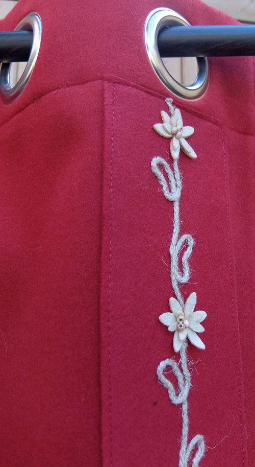 RIDEAU brodé edelweiss