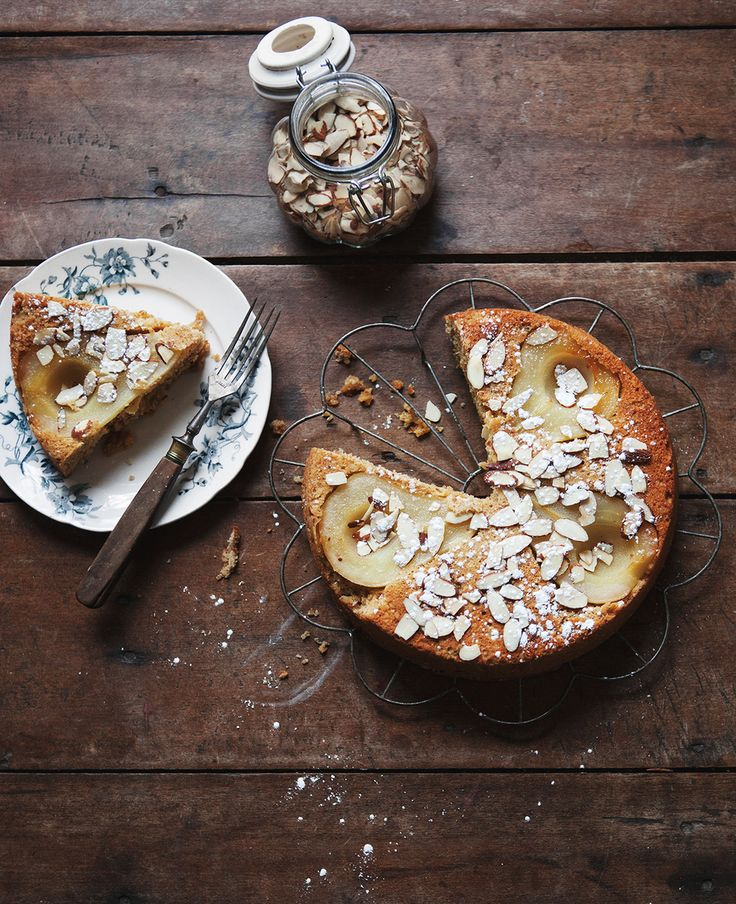 Almond Pear Cake — a Better Happier St. Sebastian: