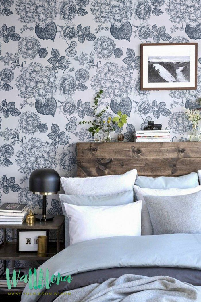DESCRIPTION Transform any room in your home into a zinnia paradise with this adhesive wallpaper! This vinyl wallpaper features a print of hydrangea and rose flo