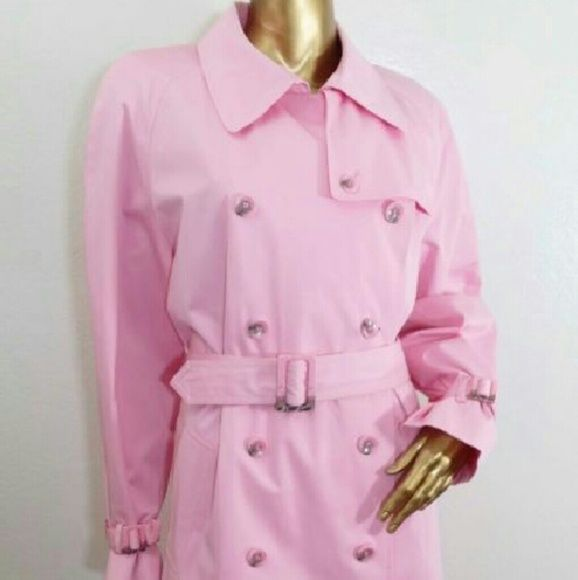 Worthington pink trench coat (Medium) Very cute pink trench coat from Worthington. Lined with a soft pink and white plaid. Size meduim. Like new condition. Worthington Jackets & Coats Trench Coats