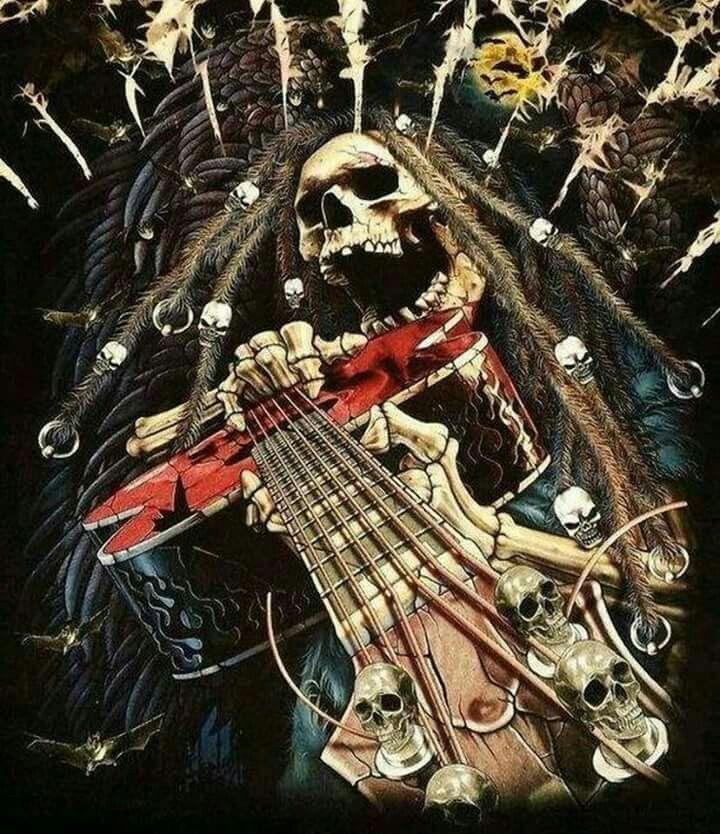 них фото рок с гитарой скелет создать подобную