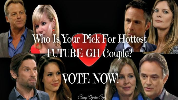 'General Hospital' (GH) spoilers reveal that some new couples are brewing in Port Charles, but do you think these pairings are hot or not? Check out the list of future couples below and then vote in the Soap Opera Spy poll on which couple you think is hottest.  #1 Kevin and Laura Kevin Collins [J