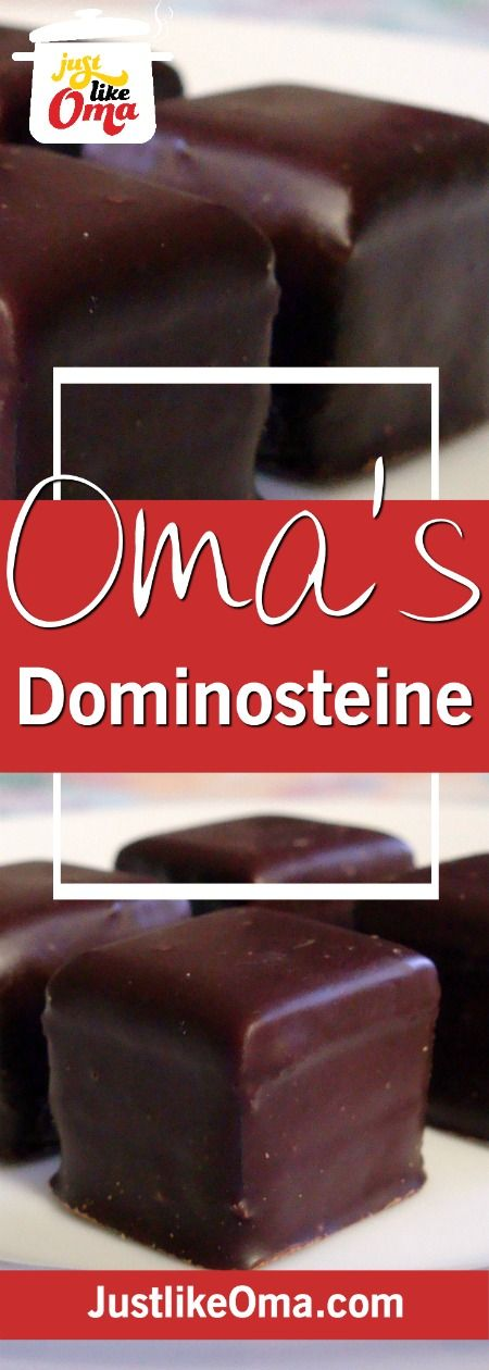 Dominosteine made Just like Oma❤️ a German Christmas treat!  Check out the recipe at http://www.quick-german-recipes.com/dominosteine.html