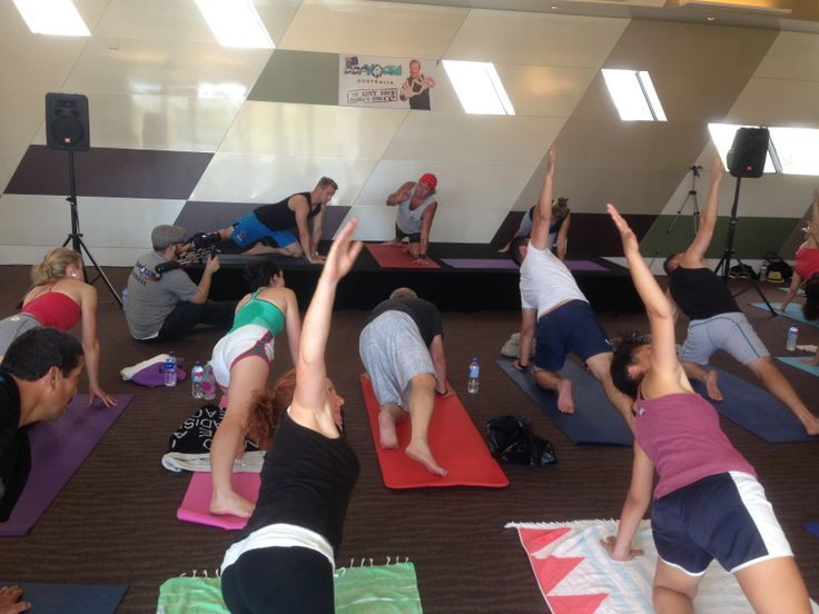 BANG! Another behind-the-scenes. Shooting the Open Day for #DDPYoga in Caulfield. #Yoga