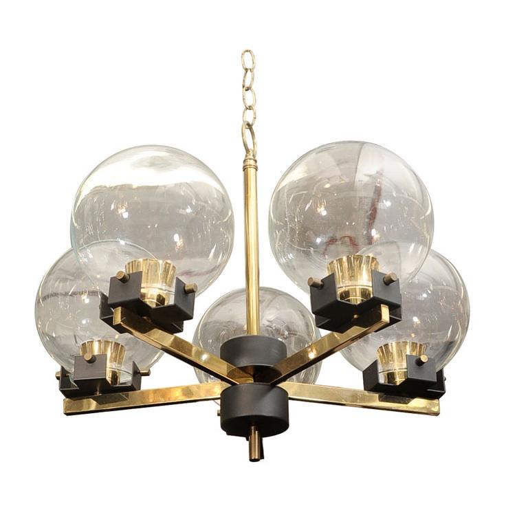 mid-century Italian chandelier