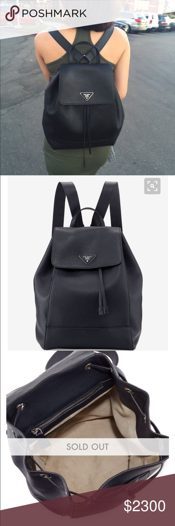 Prada Backpack Prada backpack - sold out in black. Comes with dust bag, authenticity card, and Prada paper bag. Exclude bundle discount Prada Bags Backpacks
