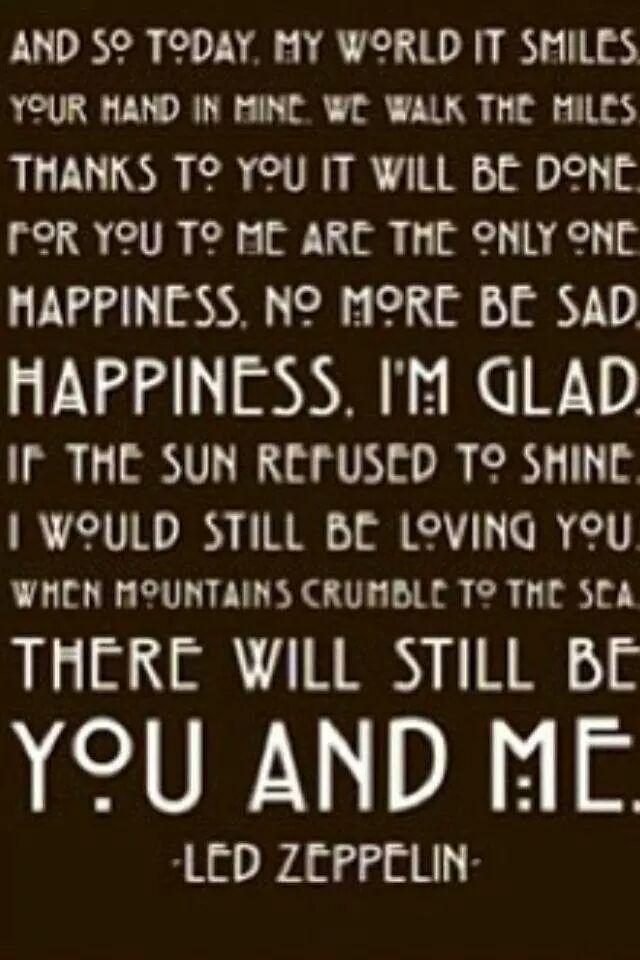 Songtext von Led Zeppelin - That's the Way Lyrics