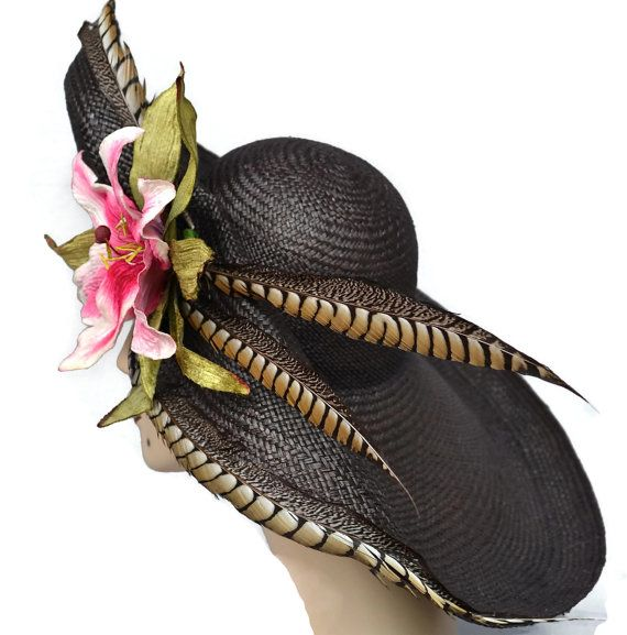 Kentucky Derby Hat Wide Brim Hat, Church Wedding Hat, Derby Hats for Women