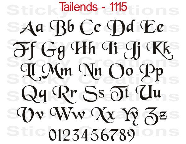 Details about custom lettering fancy vinyl decal
