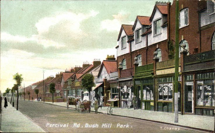 Bush hill Park, Enfield. Percival Road by T. Chaney.