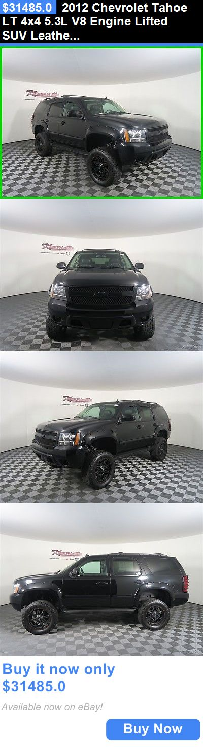 SUVs: 2012 Chevrolet Tahoe Lt 4X4 5.3L V8 Engine Lifted Suv Leather Rear Cam Easy Financing! 61078 Miles Used Black 2012 Chevrolet Tahoe Lt Suv 4Wd BUY IT NOW ONLY: $31485.0