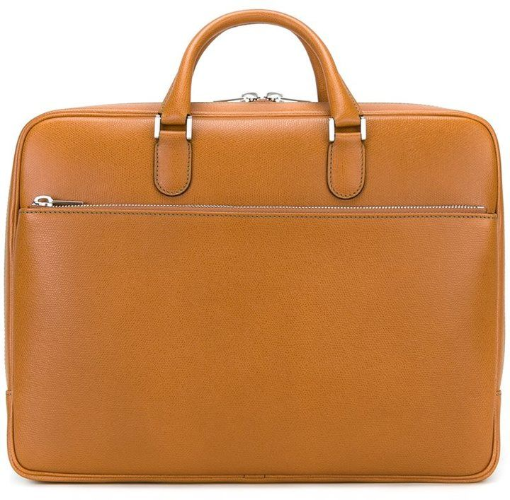 Valextra double handle brief case