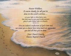 Pastor Gift Personalized Thank You Gift Pastor Appreciation Minister Gift Religious Gift Print Footprints In The Sand