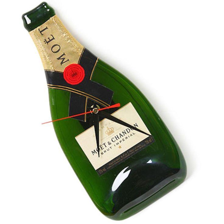 Moet Champagne Bottle Clock
