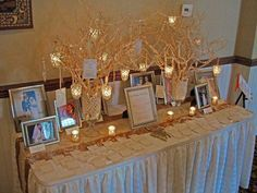 Image result for wedding memorial table ideas
