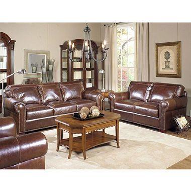 Ashland Vintage Leather Craftsman Living Room