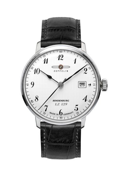 Luxusní pánské hodinky z kolekce LZ129 Hindenburg s tradičním leteckým designem nabízí přehledný ciferník s vkusně zpracovanými ručička