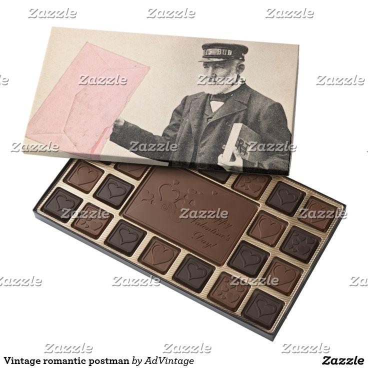 Vintage romantic postman assorted chocolates