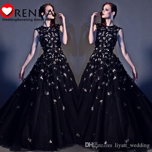 Gorgeous 2016 Best Selling Charmming Elegant Black Gold Flowers Vintage Formal Evening Prom Dresses Orenda Best Prom Dress Childrens Prom Dresses From Liyatt_wedding, $158.3  Dhgate.Com