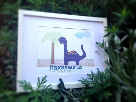 PERSONALISED 8x10 hand crafted dinosaur wall art on Etsy, $30.00 AUD