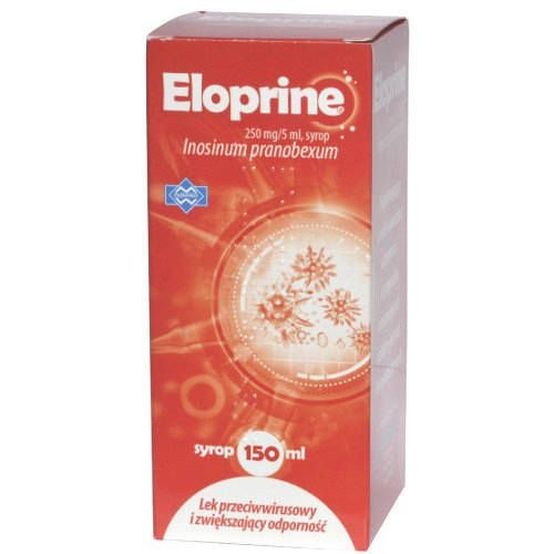 Eloprine syrup 250mg / 5ml 150 ml responsible for antiviral activity 12month