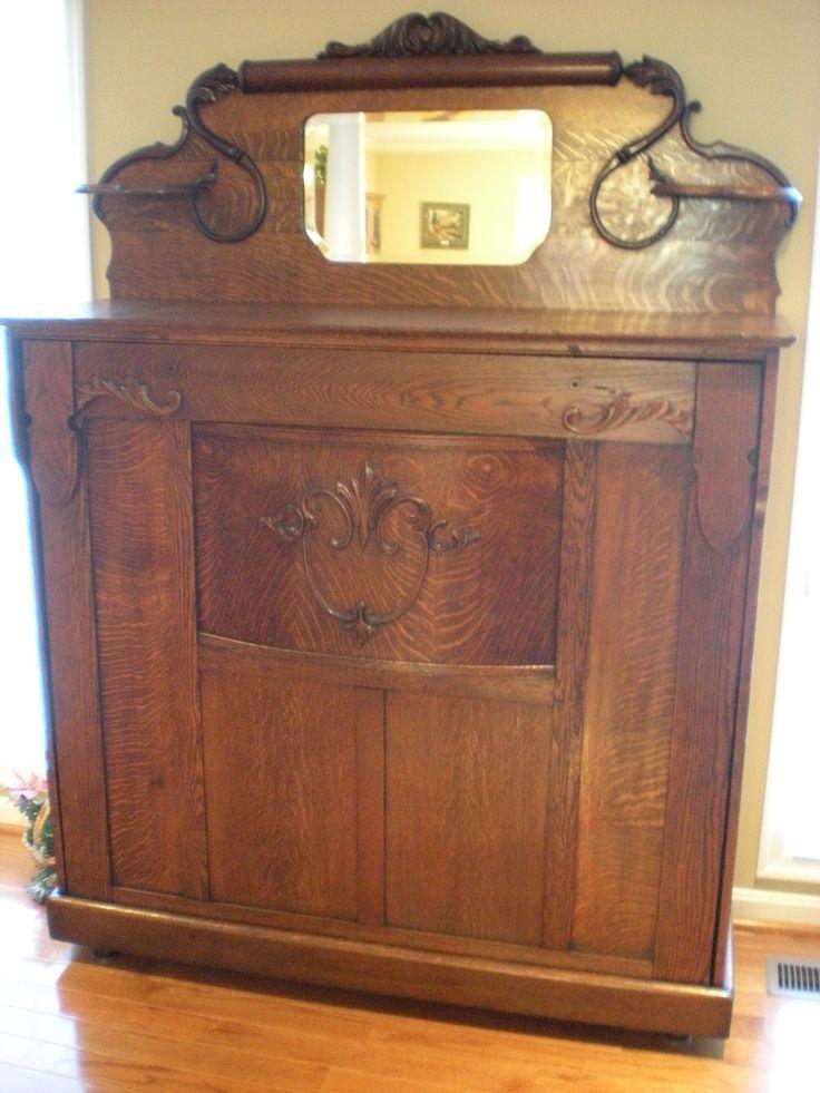 Best 1907 Oak Murphy Bed After Restoration Antique Furniture Painting Wooden Furniture Vintage 400 x 300