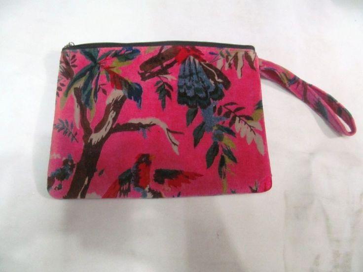 18Cm New Velvet Printed Fabric Ethnic Cotton Designer Solid Wristlet Hand bag  #Handmade #IpadCaseCover