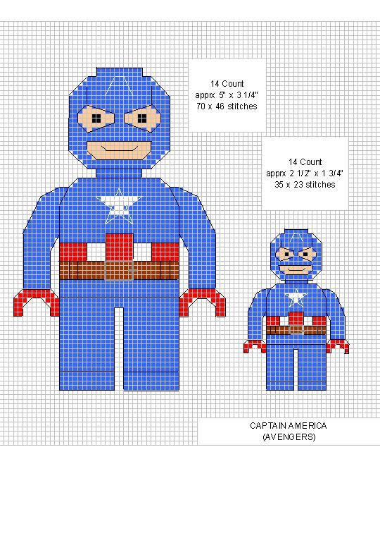 Captain America Cross Stitch