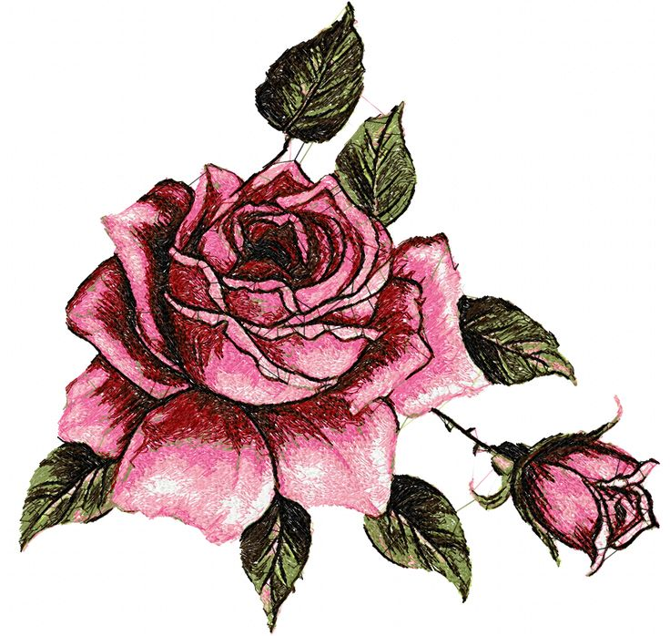 Rose photo stitch free embroidery design 12 - Photo stitch embroidery designs - Machine embroidery community