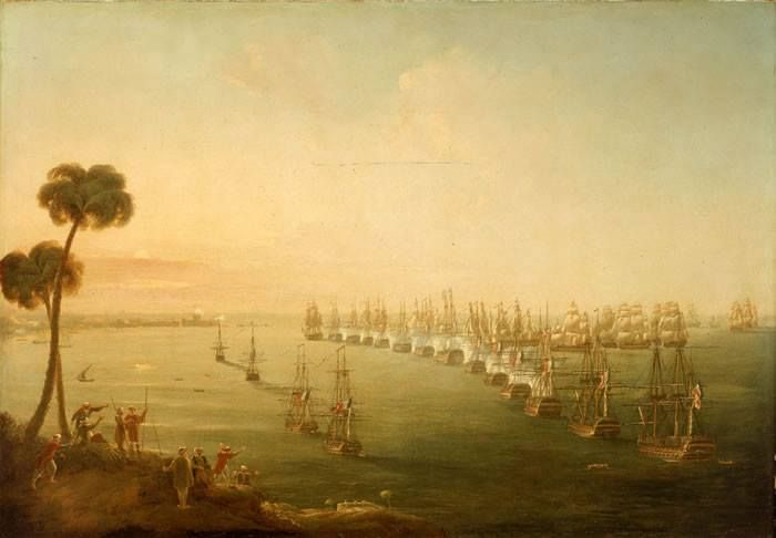The Battle of the Nile, 1–3 August 1798, Nicholas Pocock, 1808, National Maritime Museum