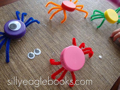 Bottlecap spiders...