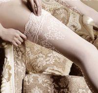 Ivory eller hvite stay-up og strømpebukser i Vakker og unik Design. Lekre strømper i mange varianter til fest eller til en sensuell aften <3 Fra kr 179,-  KJØPES hos ABELONE.NO Nettbutikk & Brudesalong