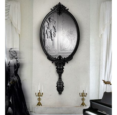 Boca do Lobo | The Marie Antoinette Mirror seeks to evoke supreme beauty to every luxury interior design, with an inexplicable mystical appreciation. #wallmirror #largemirror #mirrorforlivingroom Find more here: http://www.bocadolobo.com/en/limited-edition/mirrors/marie-antoinette/index.php