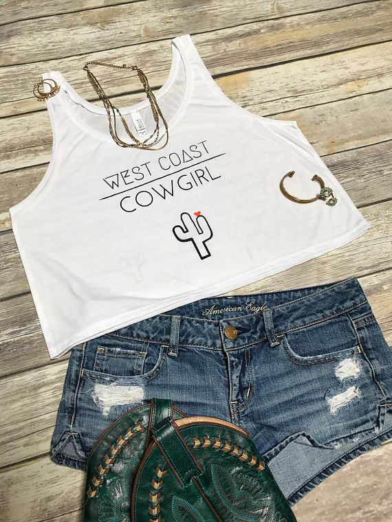 This would be perfect for Stagecoach!!! West Coast Cowgirl Women's Casual  Crop by westcoastwildflowers