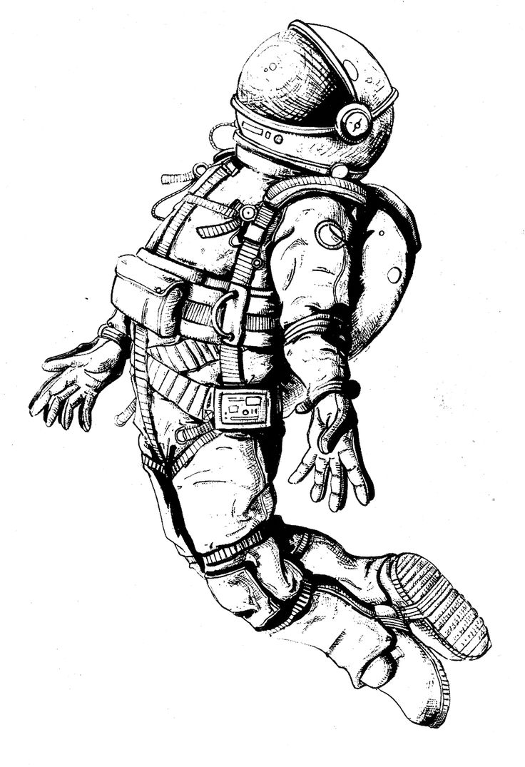 astronaut space drawing - photo #10