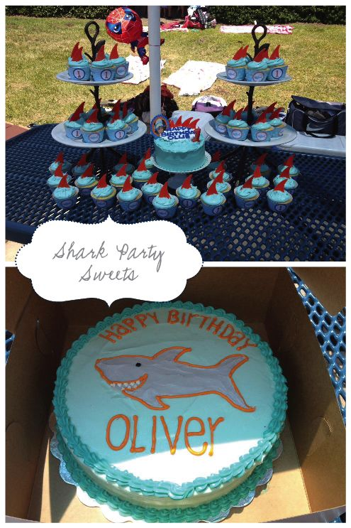 Nellie Design: Customer Approved! Shark Birthday Party