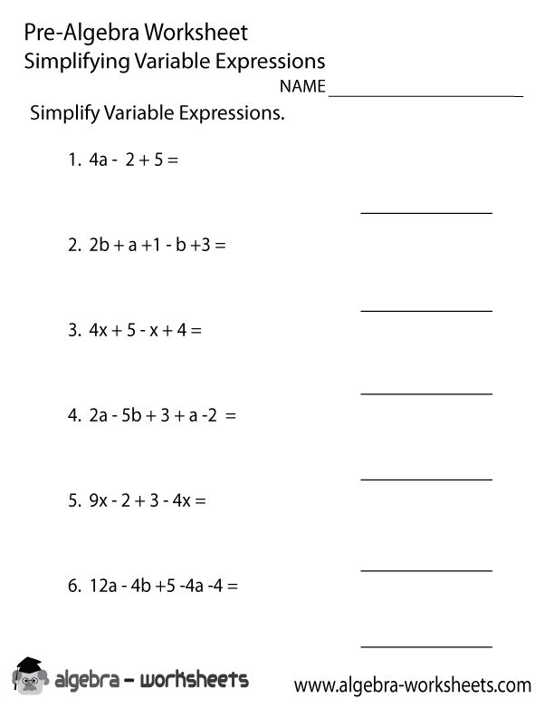 Variables And Expressions Worksheets In 2020 Algebra Worksheets Algebraic Expressions Simplifying Algebraic Expressions