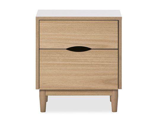 Nordic Klassik Bedside Table: Bedside Table (2 Drawer)