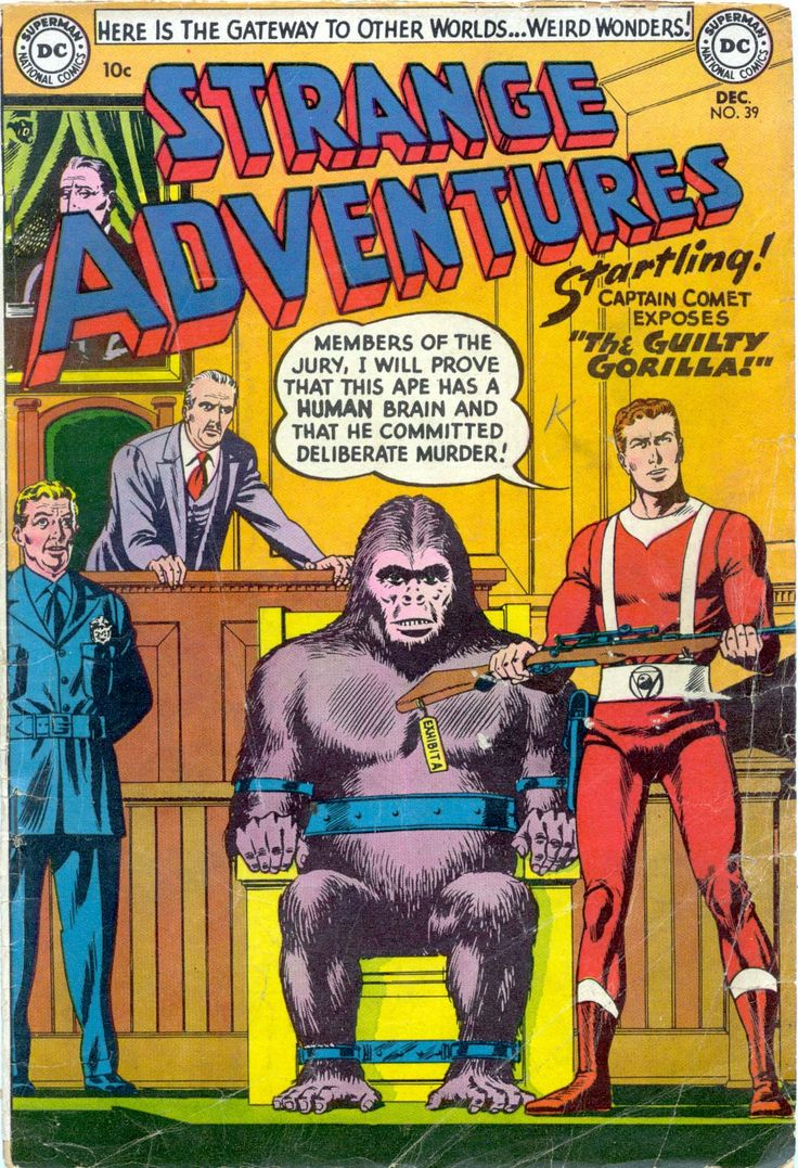 Strange Adventures 29, December 1953, cover by Murphy Anderson