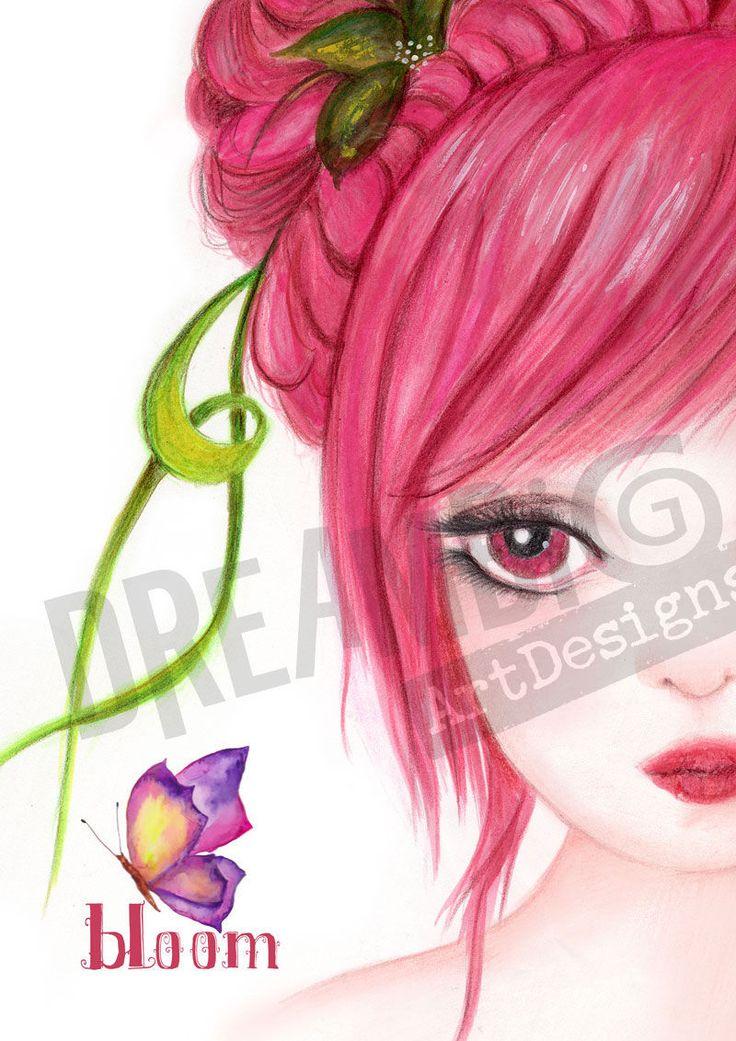 Digital art, Wall Decor, Wall Art , Pink decor, Printable art, Girls room decor, Instant download, digital Spring decor, teen room decor by DreamBigArtDesign on Etsy